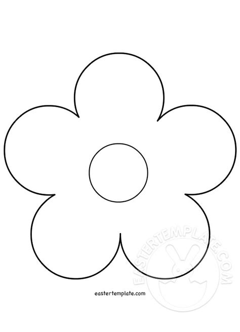 Flower Template 5 Petals by The Gallery For Gt Flower Stem Template