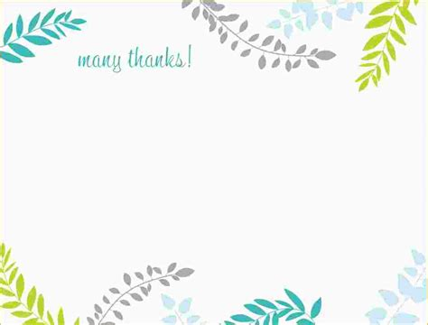 Card Template 5 Free Thank You Card Template Ganttchart Template