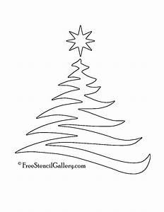 Christmas, Tree, Stencil, 20