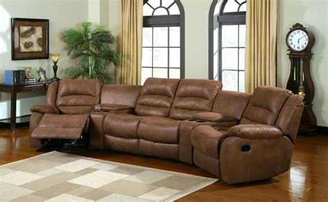 Light Brown Leather Sectional by Manchester Reclining Light Brown Leather Like Fabric