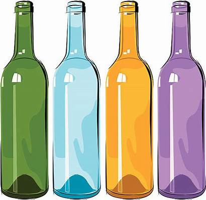 Bottle Vector Wine Empty Illustrations Clip Vectors
