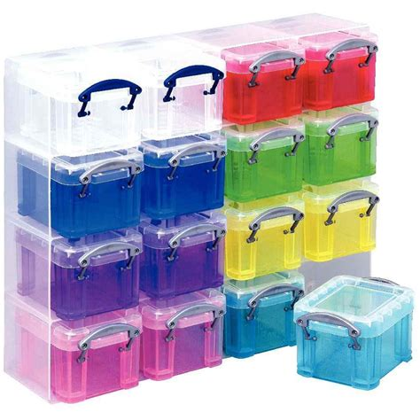 organiseur de rangement 16 bo 238 tes multicolores really useful box cases et bacs de