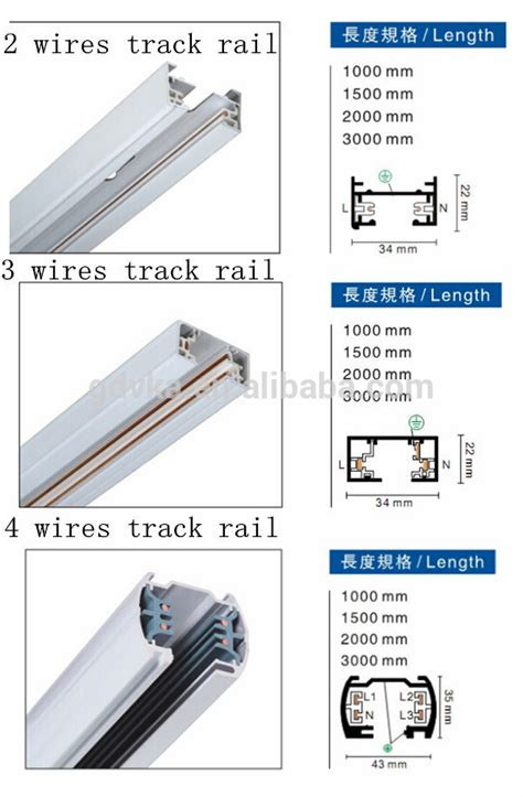 Track Series 2 3 4 Wire factory price 4 wire track light rails 3 phase light track