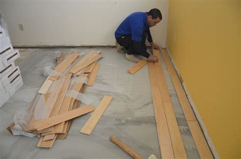 can hardwood floors be installed on concrete engineered floor installation wc floors