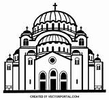 Church Clip Vector Clipart Dome Orthodox Graphics Clipartix Christian Religion Cartoon Vectors Clipground Cliparts Related 2526 sketch template