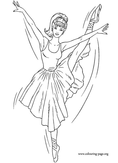 barbie barbie ballerina coloring page