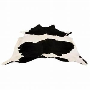 tapis salon en peau de vache noir blanc par design With tapis peau de vache avec canape eva