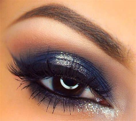 pin  elizabeth obregon     eye makeup blue dress blue dress makeup glitter eye