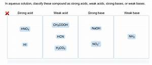 Solved  In Aqueous Solution  Classify These Compound As St