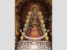 La Virgen del Rocío con su traje de Navidad en 2014