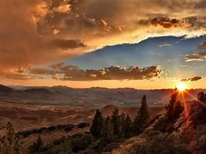 Beautiful Sunset Mountains Wallpaper HD 1920x1200 ...