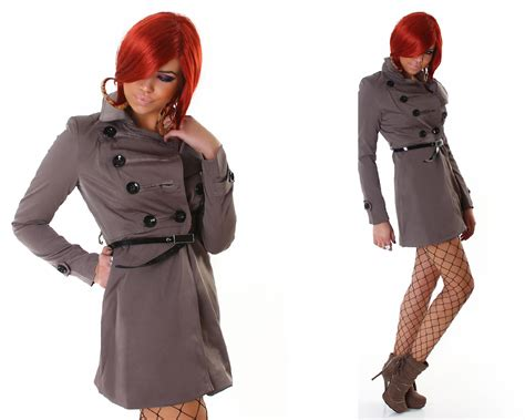 schicker mantel damen schicker damen trenchcoat mantel kurzmantel jacke blazer 7 farben ebay