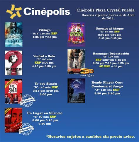 "Cinépolis Crystal on Twitter: ""#Horarios #Cartelera #Cine"