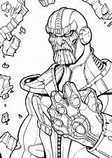 Thanos Infinity Coloring Gauntlet Pages Marvel Printable Line Avengers Drawing Comic Boys War Drawings Superhero Cute Deviantart Lego Mycoloring Super sketch template