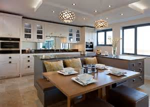 kitchen island with seating area open plan kitchens