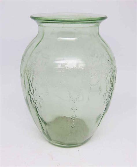 decorative glass vases vintage light green decorative glass vase olde things