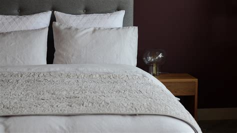 vintage wash linen bedding silver mist natural bed company