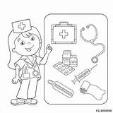 Coloring Aid Pages Thermometer Medical Kit Band Doctor Kool Outline Drawing Printable Sheets Cartoon Colouring Tools Sheet Webcomicms Getcolorings Colorings sketch template