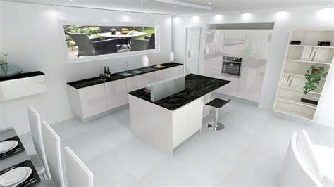 plan travail cuisine cuisine laquée blanche sans poignée plan de travail fin