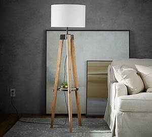 miles tripod floor lamp pottery barn With wooden floor lamp pottery barn