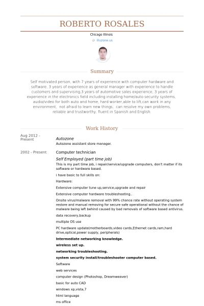 Resume Sle For Computer Technician by Computer Technician Resume Exle Safzxteria Resume