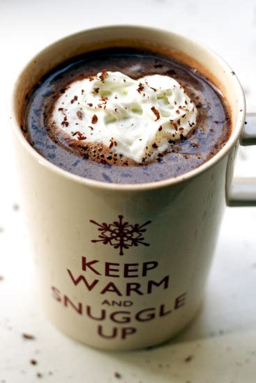 In a mixing glass, muddle all ingredients except vodka. london bakes | salted caramel vodka hot chocolate