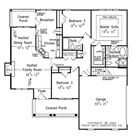 single level house plans one level house plan