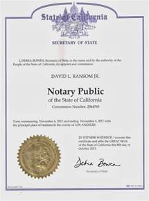 Notary Public Certificate