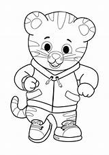 Coloring Daniel Tiger Sheets Little Printable Momjunction Birthday Colouring sketch template