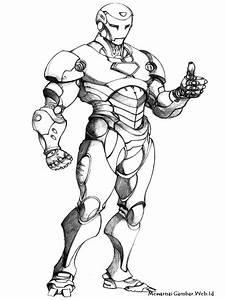 Mewarnai, Gambar, Iron, Man, 3