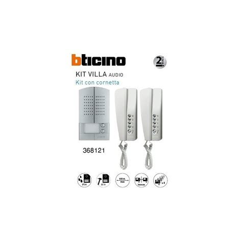 citofono bticino swing bticino 368121 kit bifamiliare swing l2k audio metal