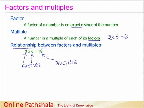 Multiples And Factors For Grade 5  Factors Multiples And Patterns 4th Grade U S Khan