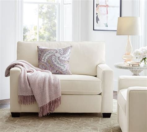 Sleeper Sofas And Chairs by Chair And A Half Slipcover Relaxed Fit Twill T Cushion 3