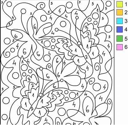 Coloring Number Pages Numbers Nicole Printable Adult