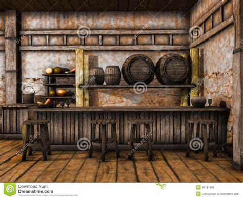tavern counter stock illustration illustration