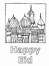 Eid Coloring Pages Template Card Happy Familyholiday Ramadan Al Fitr sketch template