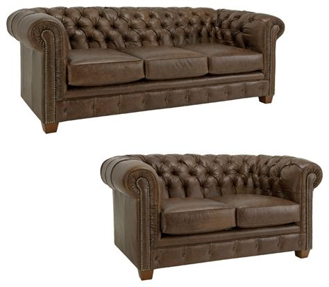tufted sofa and loveseat set hancock tufted distressed brown italian chesterfield