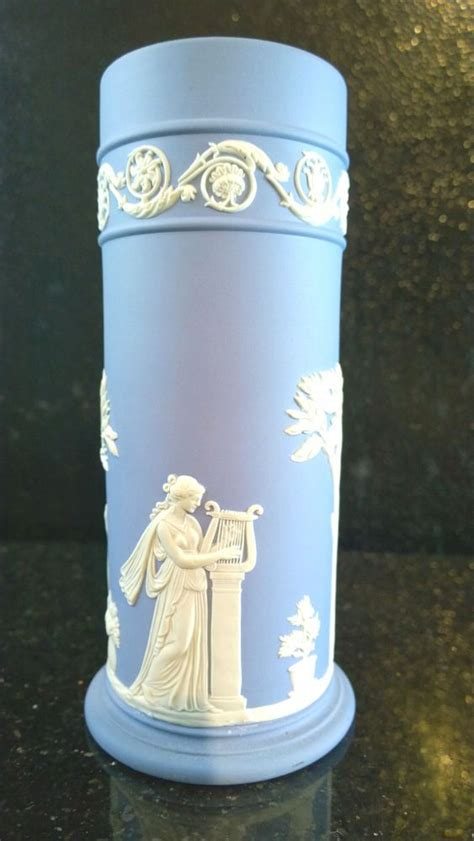 wedgwood jasperware light blue spill vase wedgewood