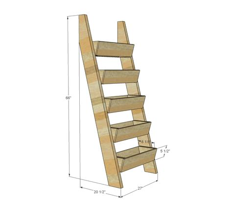 How To Build A Boat Planter by White Cedar Vertical Tiered Ladder Garden Planter