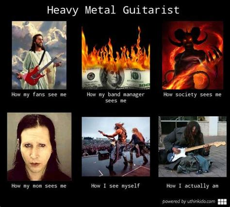 Heavy Metal Meme - heavy metal memes heavy metal guitarist what people think i do what i really do random