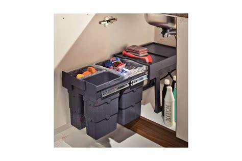poubelle cuisine tri selectif 3 bacs poubelle coulissante 3 bacs accessoires cuisines