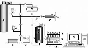 Gas  Liquid Filling System  Schematic   A  U2013 Gas Cylinder  B