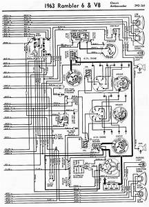 Wiring Diagrams Of 1963 Rambler 6 And V8 Classic And