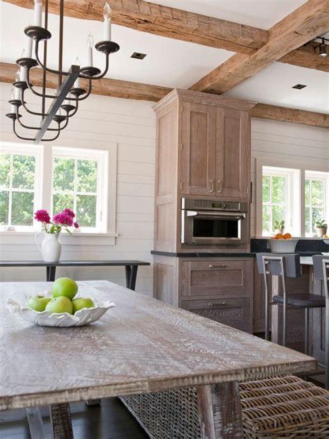 interesting whitewash oak floors  cabinets