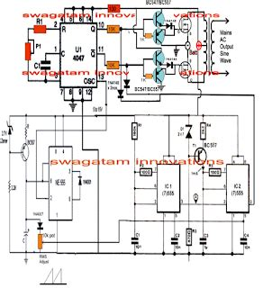 pure sine wave inverter circuit  ic  electronic