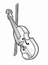 Ausmalbilder Coloring Violin Geige Malvorlagen Kostenlos Kinder sketch template