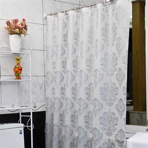 Waterproof Drapes - europe white peva bath curtains flower eco friendly