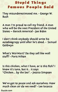 Great Quotes On... Famous Stupid Quotes