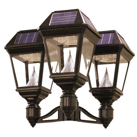 outdoor solar l post lights gama sonic imperial ii 3 head solar black outdoor