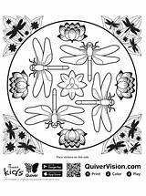 Dragonfly Coloring Pages Quiver Fun Votes sketch template